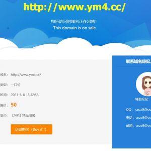 简洁的域名出售网站源码html单页源码