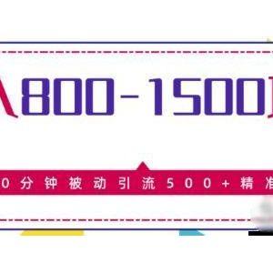 售价2468元的暴利项目日入800-1500的,10分钟被动引流500+精准粉