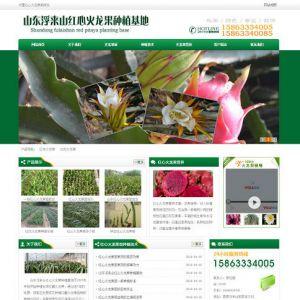 绿色火龙果苗批发火龙果种植基地网站源码 织梦dedecms模板