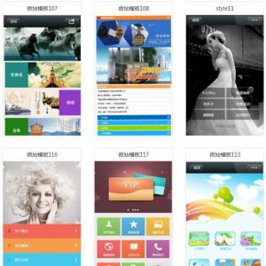 100套微赞(微官网)精华模板合集 100套非常漂亮的微站风格的网站模板