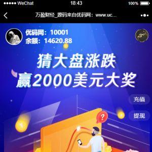 【USDT指数涨跌】蓝色UI二开币圈万盈财经币圈源码 K线正常