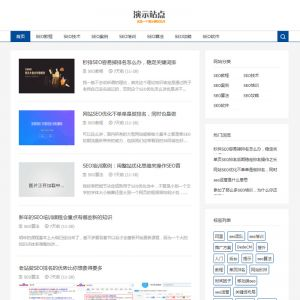 织梦SEO博客优化网站源码 响应式SEO教程资讯类网站模板