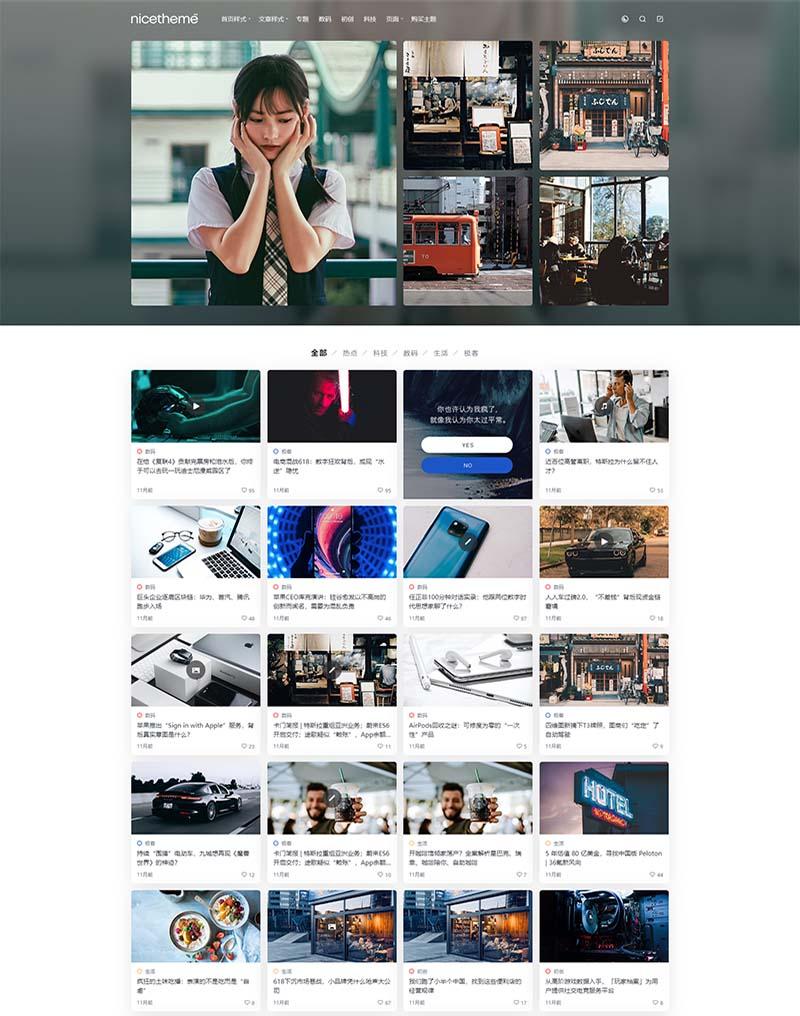 WordPress cosy主题v3.1.3破解版-漂亮自适应WP个人博客模板 第1张