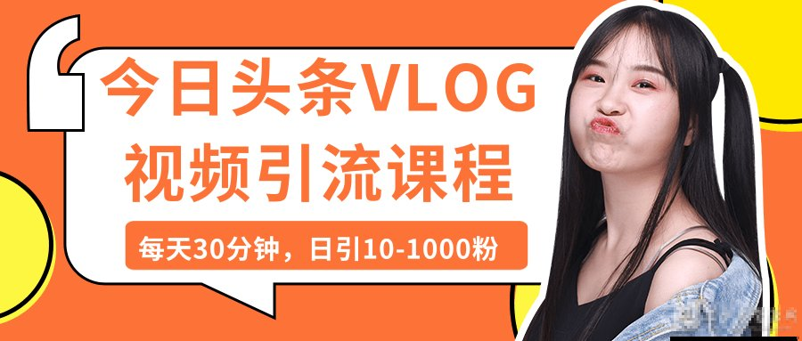 实操今日头条日引上千粉丝的VLOG视频课程 第1张