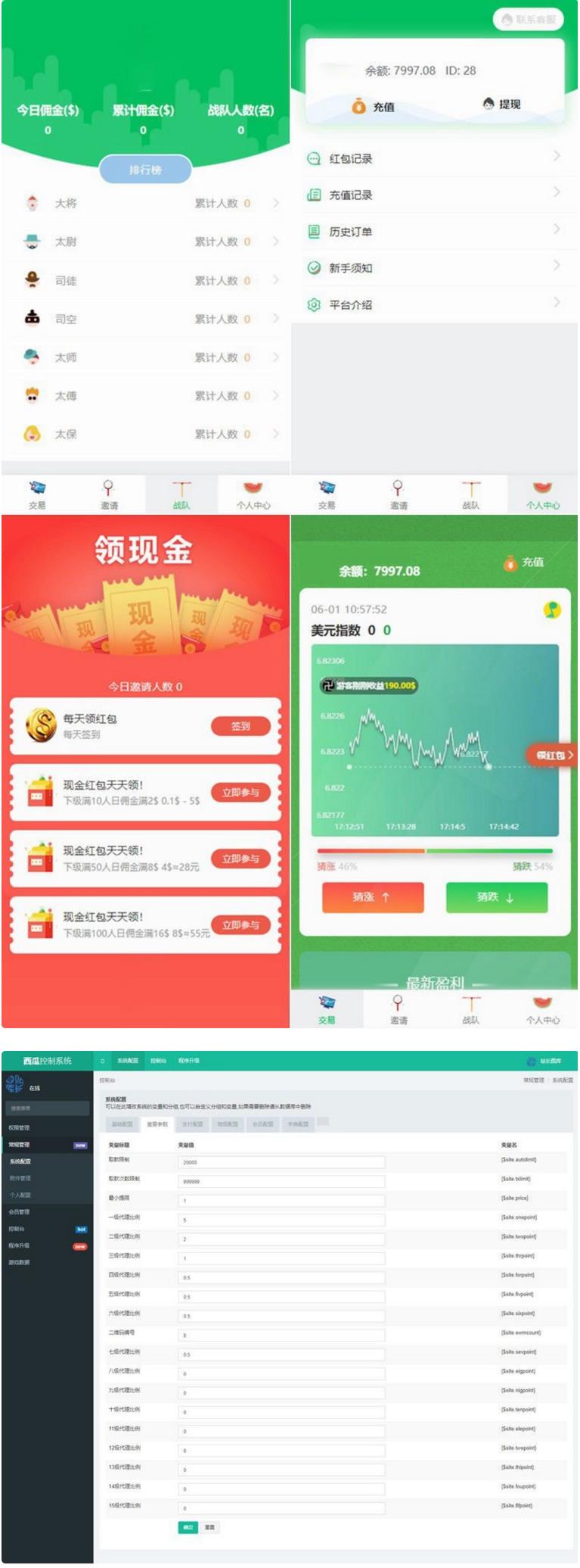 西瓜小清新币圈免公众号版+对接支付+推广K线正常完美源码 第1张
