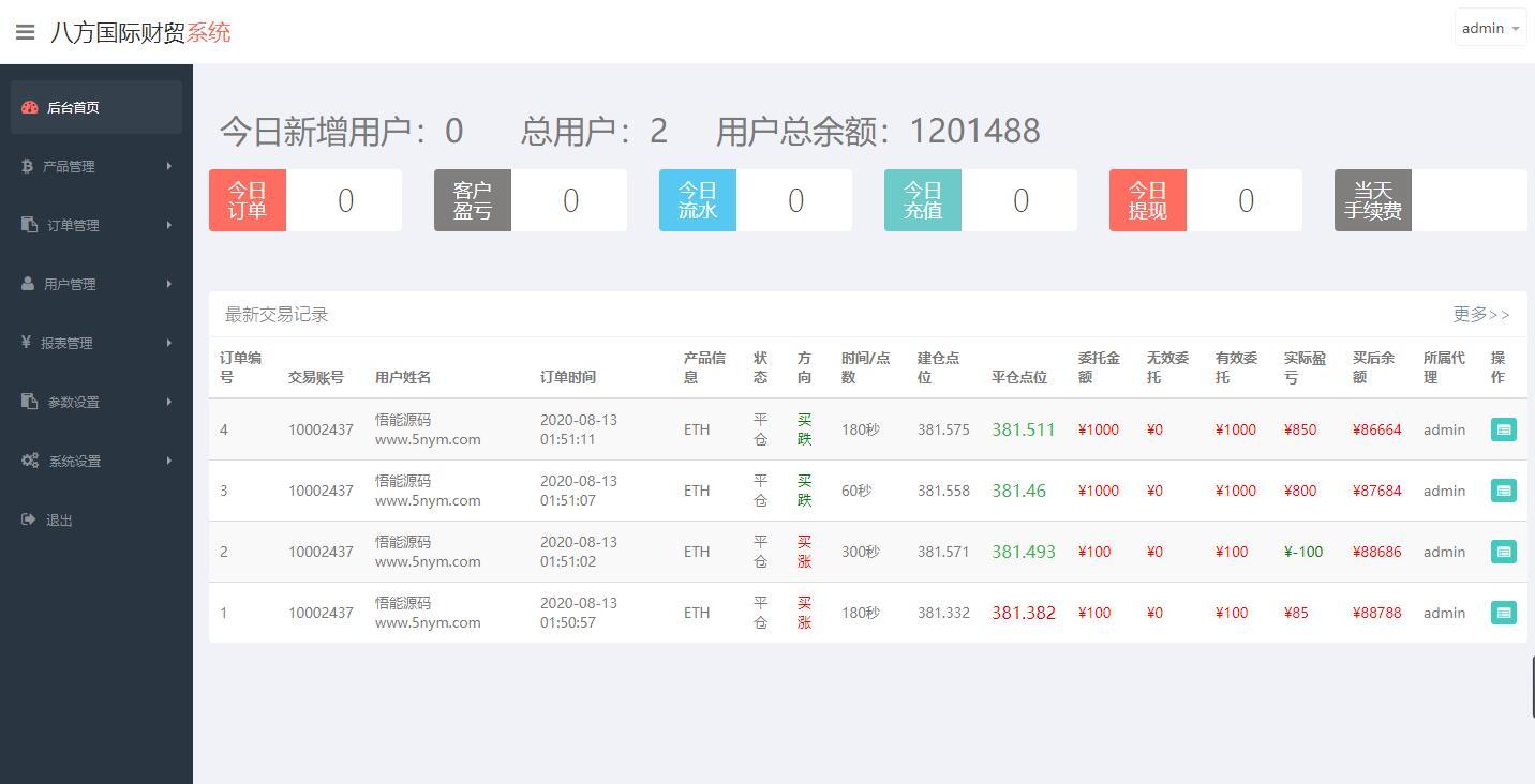 [亲测]最新更新汇汇通微盘usdt支付完美运营版+完整数据+K线正常+3种语言 第1张