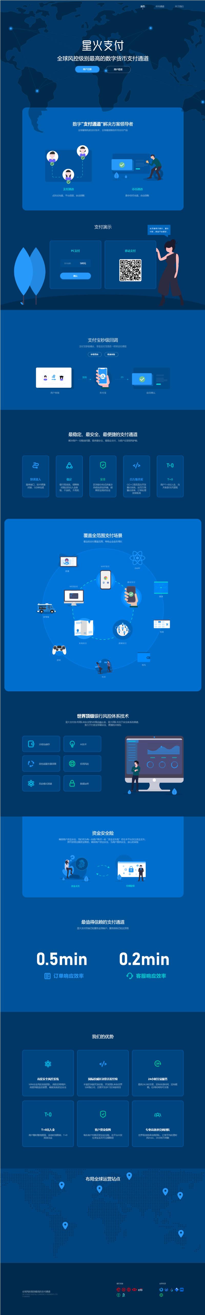 星火支付/USDT数字货币承兑系统/支持ERC20 OMNI/代理商/第三方支付接口 第1张