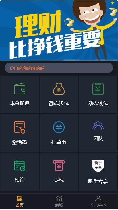 最新更新USDT虚拟币排单_虚拟钱包理财投资程序_带商城_支持商家入驻 第1张