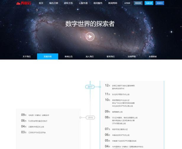 仿鸟云IDC模板 最新修复创梦虚拟主机管理系统+主控模板+鸟云模板ASP源码 第1张