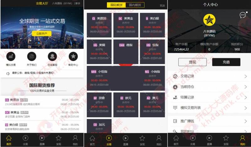 最新更新福星yii高端系列微盘点位盘pC+手机+国内外期货盘+带直播页面+资讯独立页面+完整数据+教程 第1张