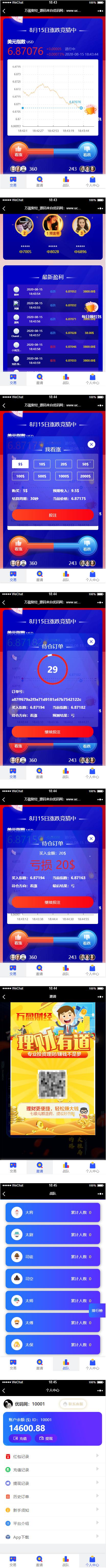 【USDT指数涨跌】蓝色UI二开币圈万盈财经币圈源码 K线正常 第2张